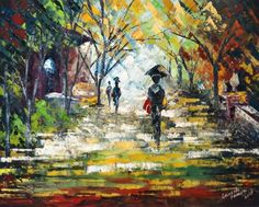 """Oil on canvas - may 2015 -16""""-20"""" - palette knife"""