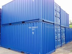20ft x 8ft Blue Container