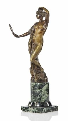 A MAX VALENTIN (1875-1931) PATINATED BRONZE FIGURE -  CIRCA 1910