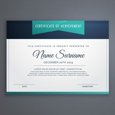 Best Artwork Performance Award Certificate Template for MS Word     Certificate decorated with blue shapes Free Vector