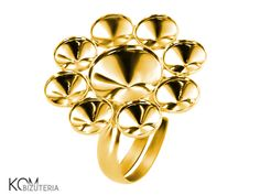 Ring base rivoli 6mm, 10mm  P8 adjustable - gold-plated silver