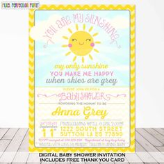 This One Is My Favorite. You Are My Sunshine Baby Shower Invitation By  PixelPerfectionParty