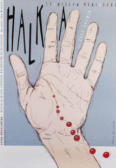 Stanislaw Moniuszko - Halka   Original Polish opera poster   designer: Andrzej Pagowski   year: 2005
