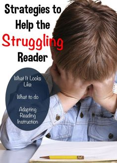 Dragon's Den Curriculum: Strategies to Help the Struggling Reader.Poor reading skills affect every area of a child's life. Find out some tips on what to do to support a struggling reader, plus seven ways to adapt reading instruction to better meet the n Reading Help, Reading Tips, Reading Groups, Reading Resources, Reading Strategies, Kids Reading, Reading Activities, Reading Skills, Teaching Reading
