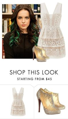 """""""*Walking Around Olympus* ~Khione"""" by mdolge ❤ liked on Polyvore featuring BCBGMAXAZRIA and Christian Louboutin"""