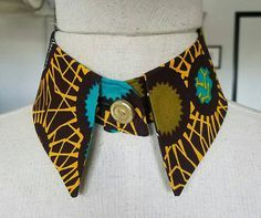 Check out this item in my Etsy shop https://www.etsy.com/listing/491878293/african-print-collar-ankara-matching
