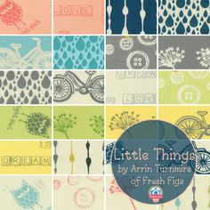 Little Things by Arrin Turnmire for Moda Fabrics, new organic fabrics for your next quilting project!