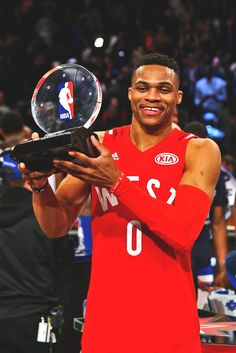 2016 NBA All-Star MVP: Russell Westbrook (First. Love And Basketball, Basketball Legends, Basketball Players, Basketball Birthday, Basketball Quotes, Basketball Wall, Basketball Court, Russell Westbrook Mvp, Basketball