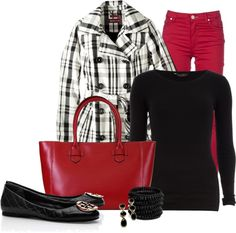 """""""Colored Skinny Jeans"""" by happygirljlc ❤ liked on Polyvore"""