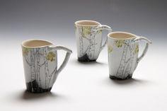 birch tree cups by JosieJurczenia, via Flickr