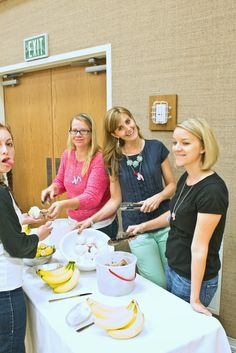 Free Time Frolics: Live Life Anchored Young Women in Excellence banana boats