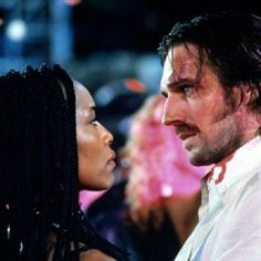 To this day the kiss between Ralph Fiennes and Angela Bassett at the end of the movie, Strange Days, is still hot as hell. #interracial