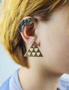 chegada novo clip brinco moda vintage liga deixa ear cuffs de 4cm de comprimento 3 cores frete grátis