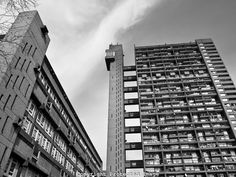 Trellick Tower iconic new brutalist architecture in London, England, UK