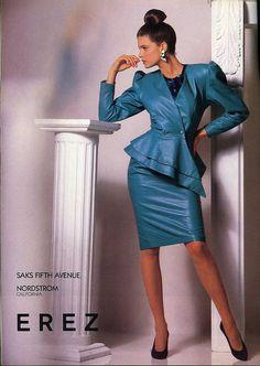 Advertisement for Erez fashions from Vanity Fair magazine, September 1988.