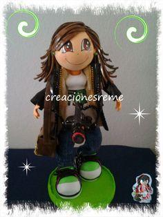 Muñequitas de goma eva Creacionesreme: Muñequita personalizada Ester