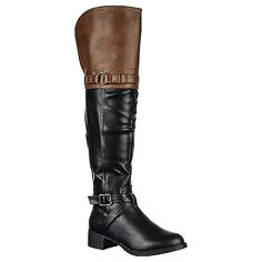 Buy Nature Breeze Jillian-01H knee high low heel riding boots online. Shop new styles of womens boots, dress shoes, and accessories at Shiekhshoes.com