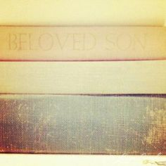 love stacking vintage books as decor