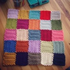 """Link: The graphic chart of my crochet mood blanket square, by Le monde deSucrette  I have been seeing photos of this crochet """"Mood Blanket"""". Finally found something…it looks ridiculously easy! And fun too!!!"""