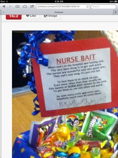 Nurse Bait LoL... Too cute.