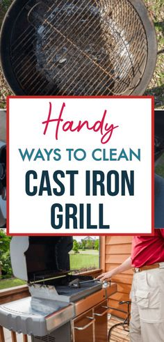 Dealing with rusty, greasy and grimed grates and grill? We have found the best, easiest, and cheapest ways to clean cast iron grill. How To Clean Bbq, Clean Grill, How To Clean Iron, Household Cleaning Tips, Household Cleaners, Cleaning Hacks, Grill Cleaning, Ceramic Water Filter, Arm And Hammer Super Washing Soda