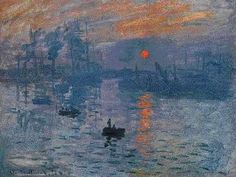 Impression Sunrise  Claude MONET 1873