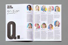 Editorial Design for the Royal College of Art's Alumni magazine