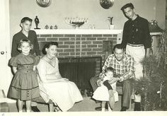 Dad's sister, Emily, and her family; Rockford, Illinois, mid-50's.