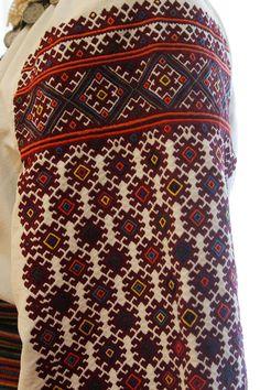 Ukraine, from Iryna Polish Embroidery, Embroidery On Clothes, Embroidered Clothes, Embroidery Applique, Cross Stitch Embroidery, Embroidery Patterns, Bohemian Costume, Ukrainian Dress, Ukrainian Art
