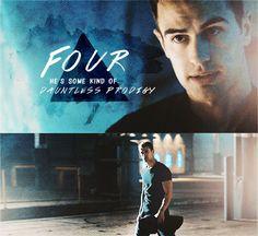 Divergent Four gif Divergent Trilogy, Divergent Insurgent Allegiant, Divergent Dauntless, Divergent Quotes, Good Books, My Books, Erudite, Theo James, Tobias