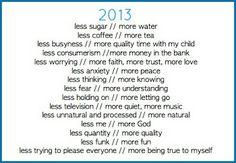 2013 Goals - Amen!