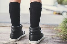 New Zealand made Lamington Socks, are the best socks you will ever buy! Beautiful merino wool to keep feet and legs snuggly warm. Sizes knitted into each pair s Merino Wool Socks, Cotton Tights, Cool Socks, Adidas Sneakers, School, Black, Fashion, Moda, Black People