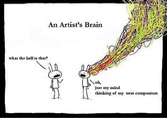 Haha! Hey! That's actually what it looks like inside my head.... coool! : )