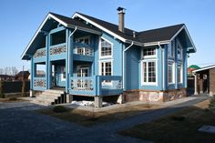 голубой бревенчатый дом: 13 тыс изображений найдено в Яндекс.Картинках