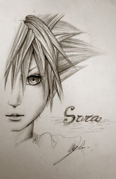 An absolutely fantastic sketch of sora :)