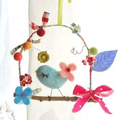 a little bird and flowers - emilie friday