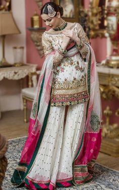 A&N Bridal-2020 (10) Pakistani Fancy Dresses, Pakistani Fashion Party Wear, Pakistani Couture, Pakistani Wedding Dresses, Pakistani Dress Design, Pakistani Outfits, Pakistani Sharara, Indian Outfits, Fancy Dress Design