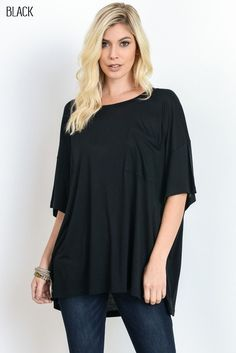 Pocket and Posh Oversized Tee #JessLeaBoutique