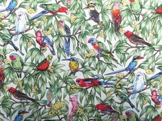 Fabric Godmother - Birds in Paradise Cotton - Ivory, �14.00 (http://www.fabricgodmother.co.uk/birds-in-paradise-cotton-ivory/)