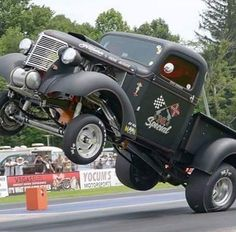 Truck dragster. A little resemblance to a rat rod.