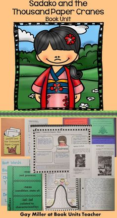Sadako and the Thousand Paper Cranes Book Unit contains graphic organizers for an interactive notebook and game activities covering vocabulary, comprehension, $constructive response writing, and skill practice to use with the book Sadako and the Thousand Paper Cranes by Eleanor Coerr. $
