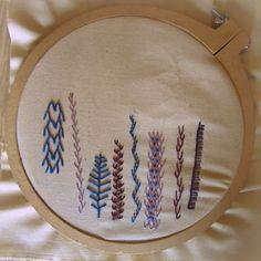 Feather stitch.  http://lavidaestandeliciosa.blogspot.com.ar/ <3