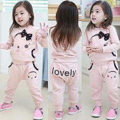 Aliexpress.com : Buy 2014 spring and autumn female bow children's child clothing child baby sweatshirt set tz 0557 on Kids Fashion Clothing ...