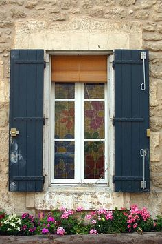Dark Blue Shutters by LaVeta Jude, via Flickr