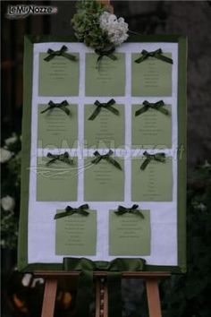 Magnifico ed elegante tableau di nozze #verde