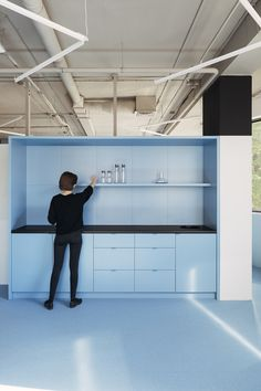 Baby blue with burgundy is best: here's an intriguing office palette - News - Frameweb 3d Interior Design, Interior Design Software, Interior Work, Interior Paint, Luxury Interior, Blue Office, Architecture Office, Classical Architecture, Architecture Panel