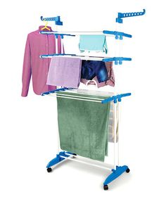 Look at this #zulilyfind! Blue Multifunction Clothes Drying Stand by Bonita #zulilyfinds