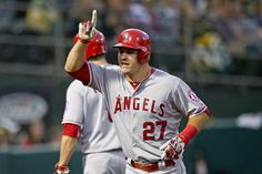 Mike Trout homers in Angels' 6-3, 4/29/15 win over Athletics  KEY MOMENT: With the score tied, 3-3, Matt Joyce walked to open the seventh inning and took third on C.J. Cron's hit-and-run single through a vacated second-base hole. Chris Iannetta struck out, but No. 9 hitter Johnny Giavotella lined a run-scoring to center for a 4-3 lead. Kole Calhoun walked,...  http://www.latimes.com/sports/angels/la-sp-angels-athletics-box-mike-trout-20150430-story.html