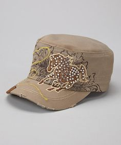 Another great find on #zulily! Tan & Yellow Mustang Cadet Cap #zulilyfinds
