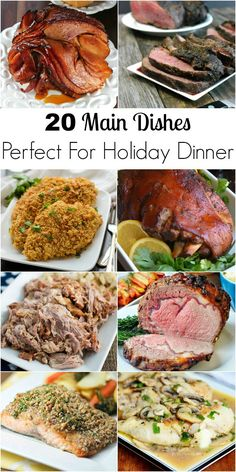 20 Main Dishes Perfect For Holiday Dinner from Lyuba @ Will Cook For Smiles 20 Hauptgerichte . Christmas Main Dishes, Easy Christmas Dinner, Holiday Dinner, Christmas Parties, Christmas Treats, Christmas Time, Thanksgiving Main Dishes, Easter Main Dishes, Christmas Foods